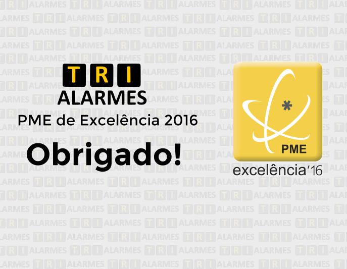 Trialarmes reconhecida como PME Excelência 2016